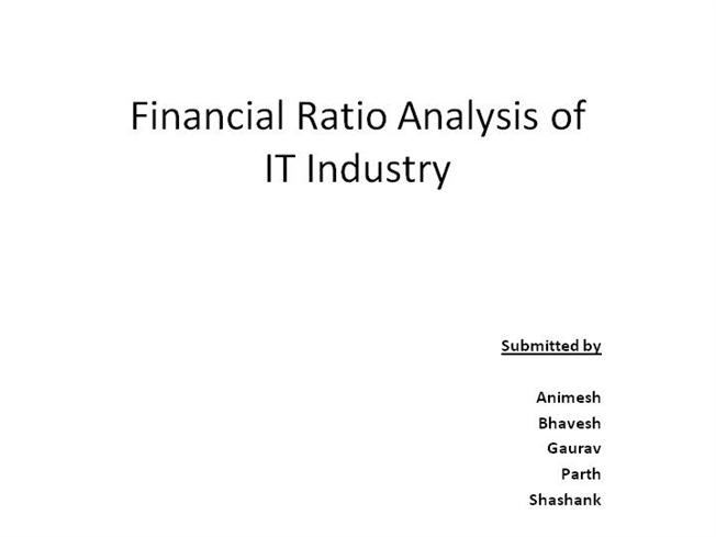 Financial Ratios Comparision Of Tcs Infosys  Wipro Authorstream