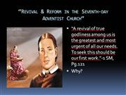 revival & reform in the sda church