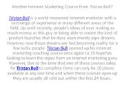 Another internet marketing course from tristan bull.