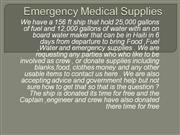 Emergency Medical Supplies