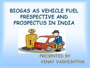biogas as vehicle fuel