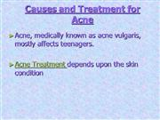 causes and treatment for acne