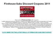 Firehouse Subs Discount Coupons 2011
