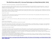 Thin Film Photovoltaics (PV) -  Advanced 1