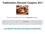 Fuddruckers Discount Coupons 2011