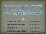 ONLINE COMMUNITY FOR STUDENTS OF COLLEGE WITH HELP
