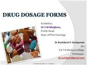 Drug dosage forms