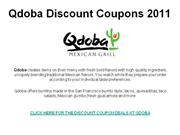 Qdoba Discount Coupons 2011