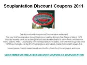 Souplantation Discount Coupons 2011
