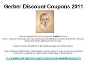 Gerber Discount Coupons 2011