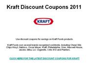 Kraft Discount Coupons 2011