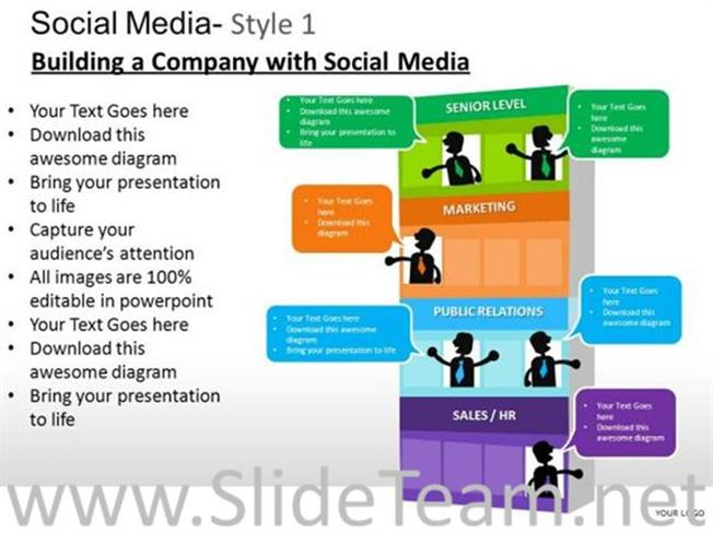 company departments ppt design powerpoint diagram