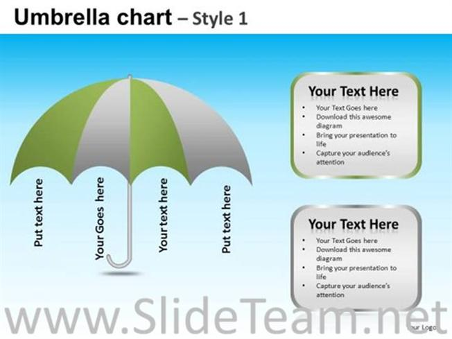 Umbrella text ppt layout powerpoint diagram related powerpoint templates toneelgroepblik Images