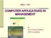 Comp Appn in Mgt 2008