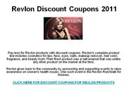 Revlon Discount Coupons 2011