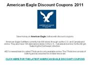 American Eagle Discount Coupons 2011