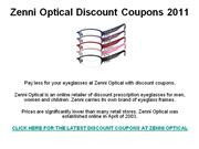 Zenni Optical Discount Coupons 2011