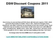 DSW Discount Coupons 2011