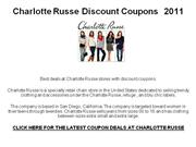 Charlotte Russe Discount Coupons  2011