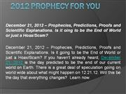 2012 Prophecy For You
