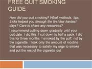 Free Quit Smoking Guide