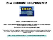 IKEA DISCOUNT COUPONS 2011