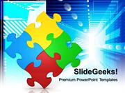 PUZZLE STRATEGY BUSINESS POWERPOINT TEMPLATE