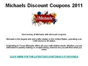 Michaels Discount Coupons 2011