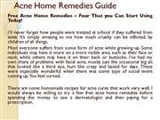 Acne Home Remedies Guide