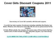 Cover Girls Discount Coupons 2011