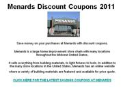 Menards Discount Coupons 2011