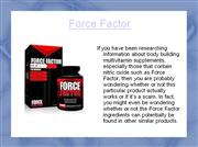 Force Factor Scam