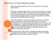 Best Way To Stop Smoking Guide