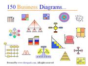 150 Business Diagrams for management presentations