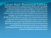 Laser Hair Removal Safety