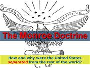 3-The Monroe Doctrine