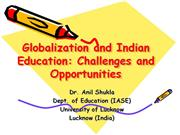 globalization of indian education