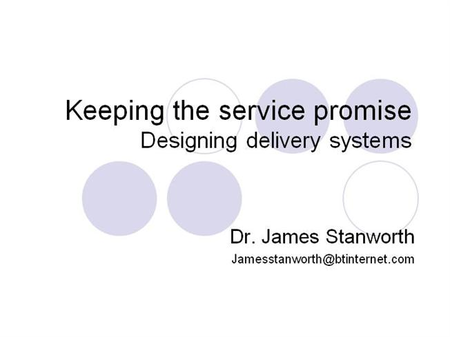 Designing service delivery systems authorstream malvernweather Gallery