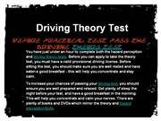 Before Practical Test Pass the Driving Theory Test