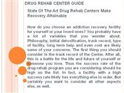 Drug Rehab Center Guide