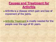 causes and treatment for arthritis