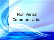 Non-verbal communication Values
