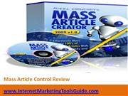 Mass Article Control Review