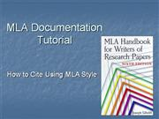 MLA Documentation Module