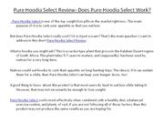 Pure Hoodia Select Review