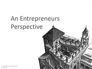 An Entrepreneurs Perspective
