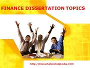 finance dissertation topics @ dissertationhelpindoa.com