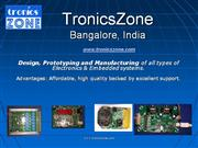 electronics design, consulting and embedded systems design service