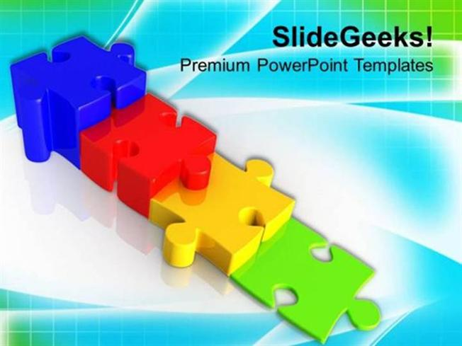 PUZZLE TO REPRESENT GROWTH AND INTERCONNECTION POWERPOINT TEMPLATE – Puzzle Powerpoint Template