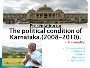 Politics of karnataka (2008-2010)